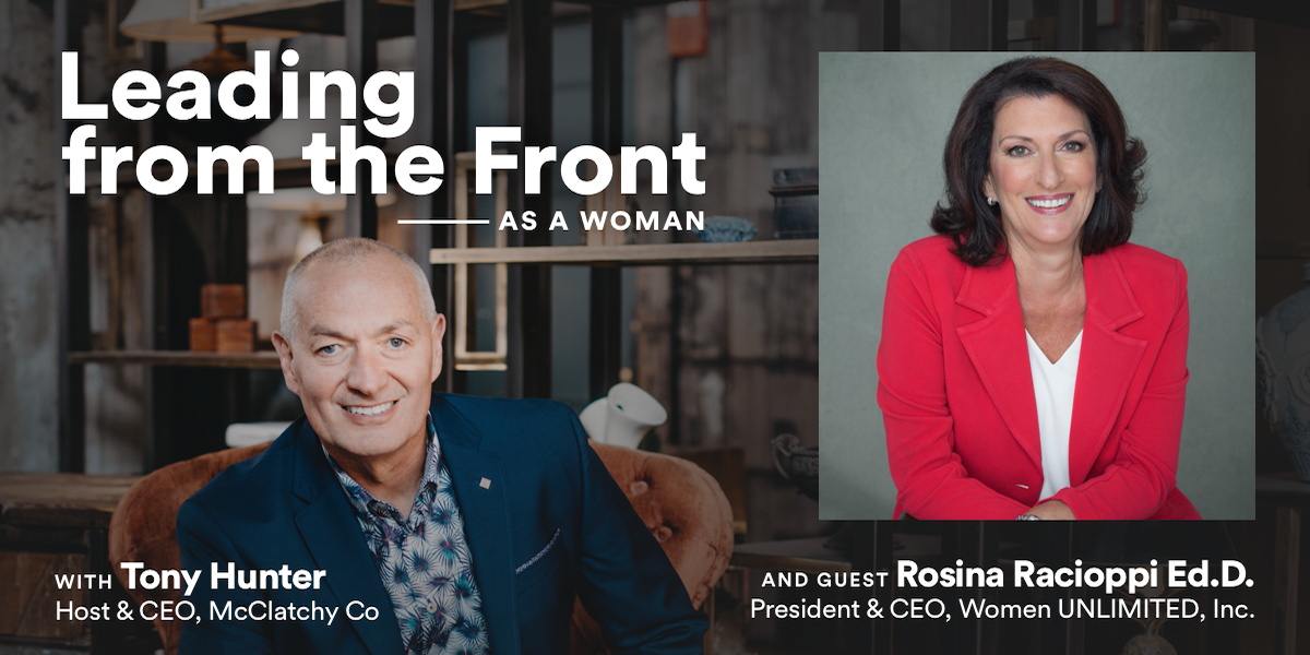 Leading from the Front: As a Woman with Rosina Racioppi